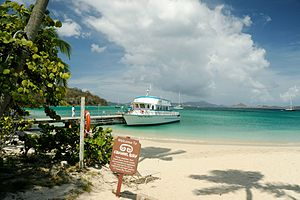 Caneel Bay Boat Mary II at Caneel Beach.jpg
