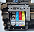 Canon S520 ink jet printer - opened (cropped).jpg