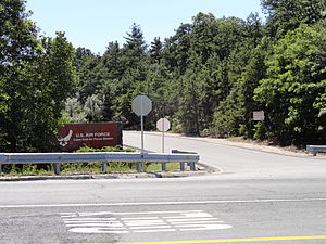 Cape Cod Air Force Station - Image: Cape Cod Air Force Station entrance