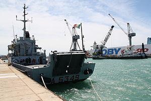 Gorgona-class transport ship - Caprera (A 5349) to Port of Livorno in 2013