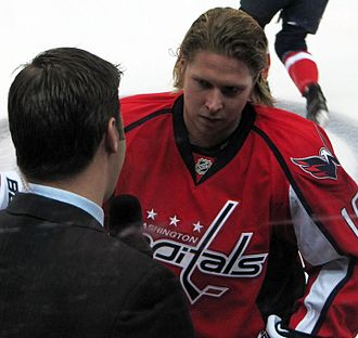 NBC Sports Washington - Nicklas Bäckström being interviewed during a Capitals game April 15, 2010