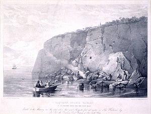 John Lhotsky - Image: Captain Cook's tablet at Cape Solander, Botany Bay, New South Wales
