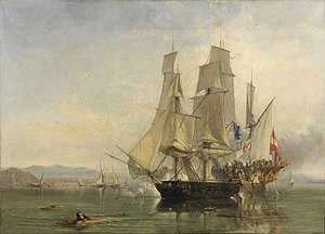 Thomas Cochrane, 10th Earl of Dundonald - The Action and Capture of the Spanish Xebeque Frigate El Gamo, Clarkson Frederick Stanfield