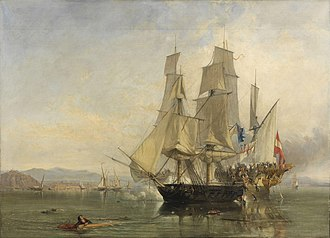 Action of 6 May 1801 - The Action and Capture of the Spanish Xebeque Frigate El Gamo by Clarkson Frederick Stanfield