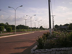 An avenue in Caracaraí