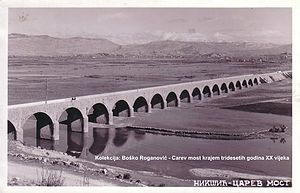 Carev Most - The bridge in 1930s