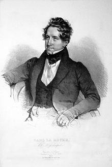 Carl Ritter von La Roche, Lithograqphie von Josef Kriehuber, 1835 (Quelle: Wikimedia)