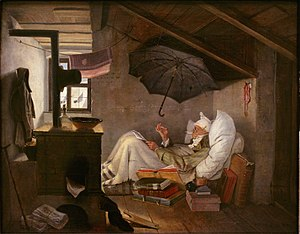 Garret - Carl Spitzweg, The poor poet (Der arme Poet), 1839