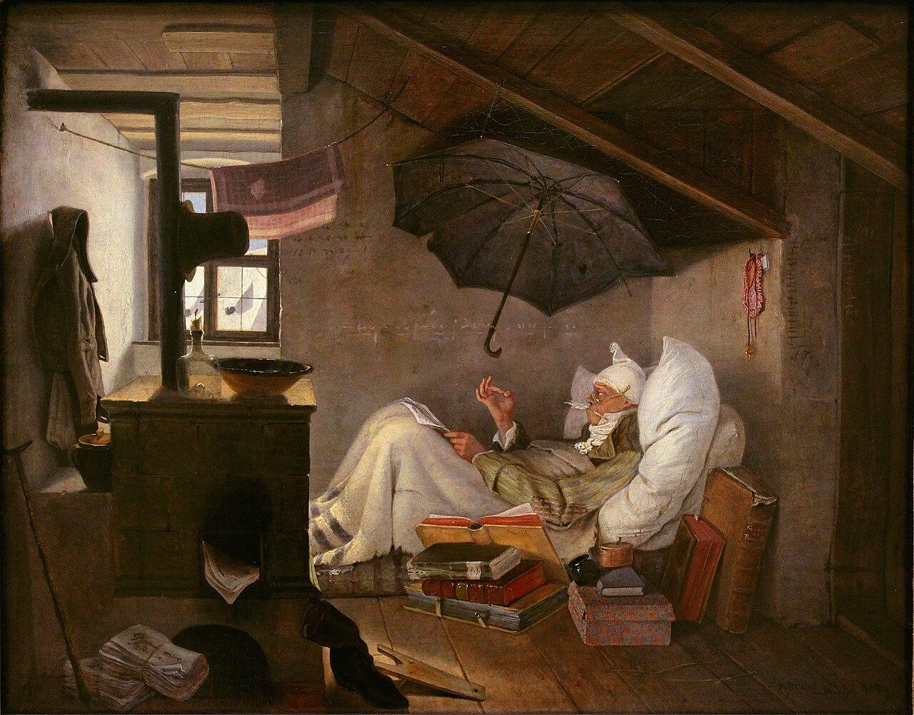 Der arme Poet, peinture de Carl Sptizweg