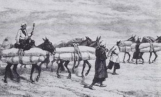Ziyarat - Carrying corpses to the Holy Shrines, Persia, 19th century.