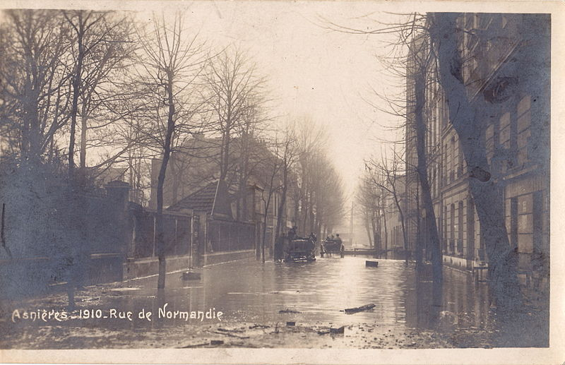 Fichier:Carte-Photo - ASNIERES - 1910 Rue de Normandie.jpg
