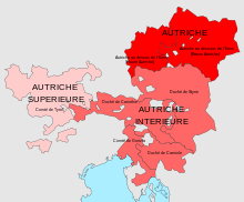 Description de l'image  Carte archiduché Autriche.svg.