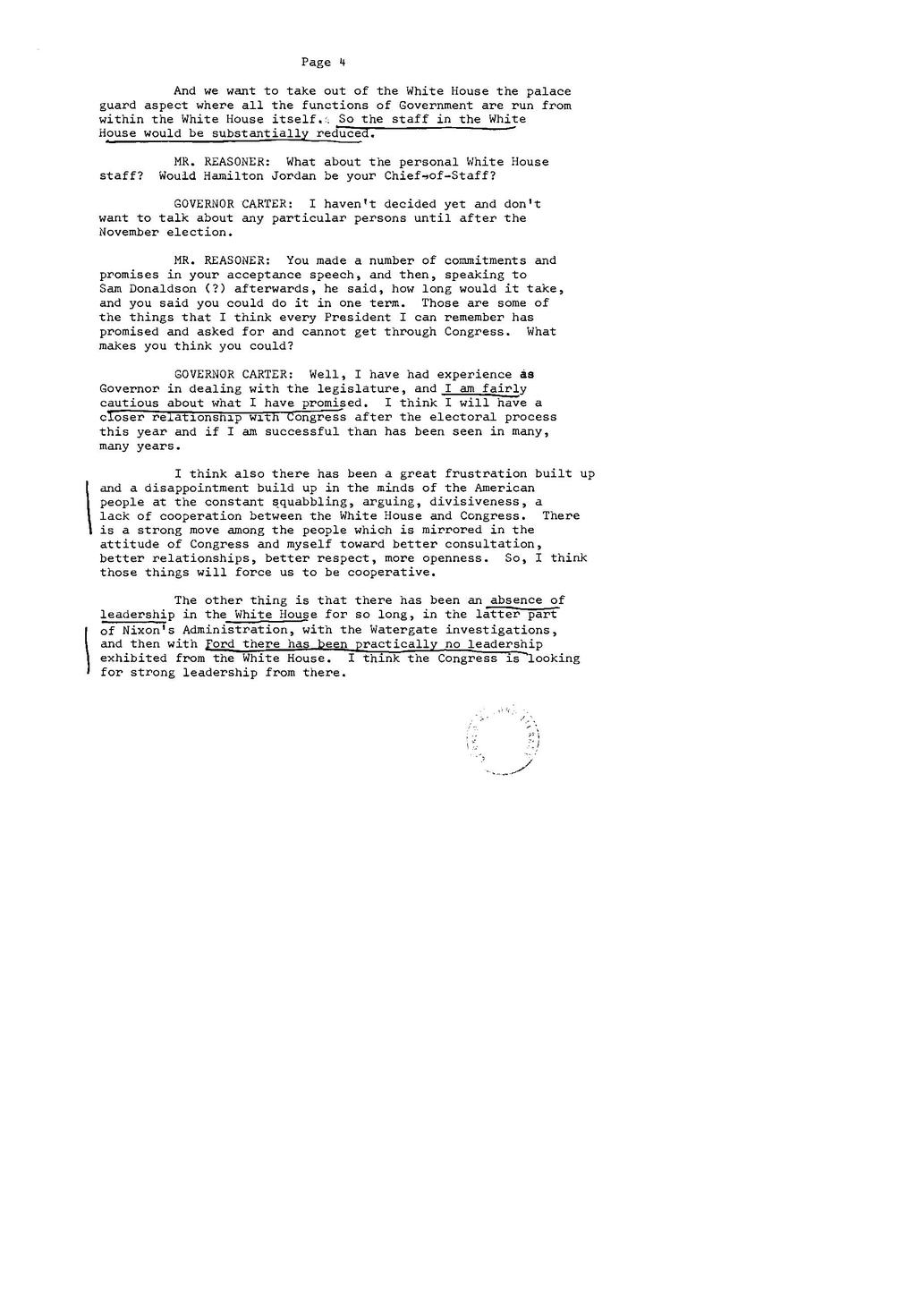 Page:Carter Interview with Harry Reasoner (Gerald Ford and