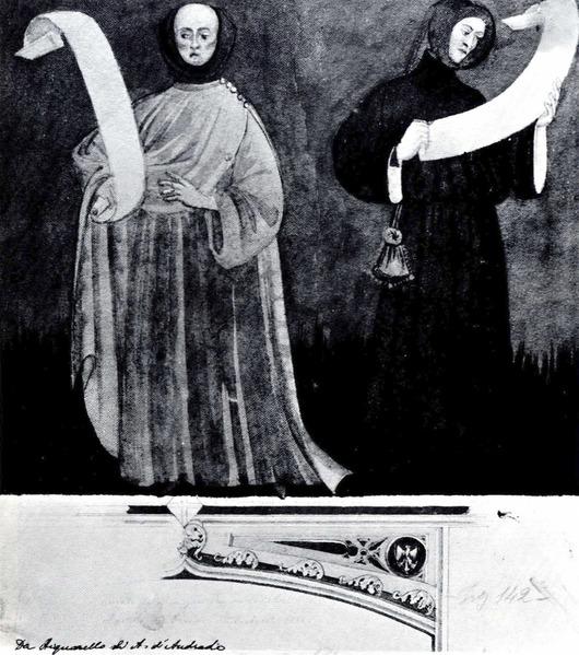 File:Castello di Fenis, affreschi, da acquarello di D Andrade, fig 142, Nigra.tiff