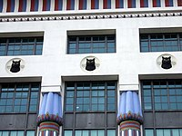 Cat frieze on Carreras building - geograph.org.uk - 670722.jpg