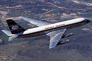 Cathay Pacific Convair 880 in flight.jpg