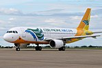 Cebu Pacific Air Airbus A320 at Cebu Mactan Airport.jpg