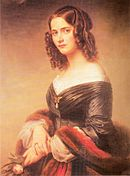 Mendelssohn's wife Cécile (1846) by Eduard Magnus (Source: Wikimedia)