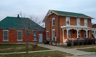 National Register of Historic Places listings in Cedar County, Iowa - Image: Cedar County Jail and Sheriff's Residence