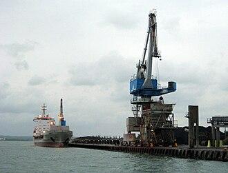 Aalborg Portland - The cement carrier Cemisle at Aalborg Portland.
