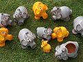 Ceramic house, elephants in Gyenesdiás, 2016 Hungary.jpg