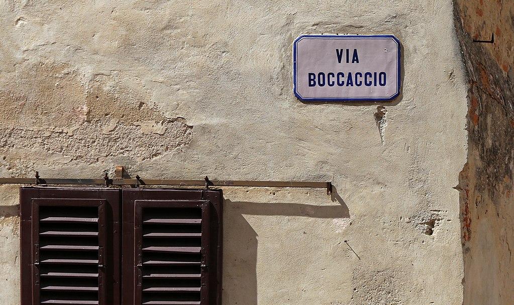 Certaldo Alto, Via Boccaccio