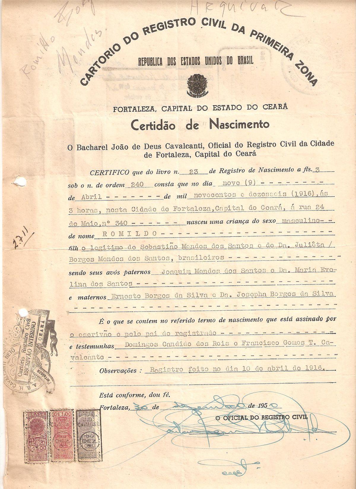 Oficial de registro – Wikipédia, a enciclopédia livre