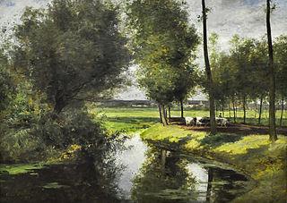 Leielandschap of De weg naar het Patijntje in Gent