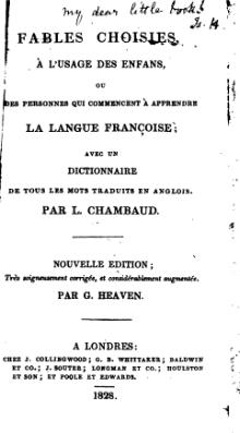 Chambaud - Fables choisies with English-French dictionary, 1828.djvu