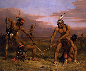 Gilcrease Museum - Charles Deas - Sioux playing ball, 1843, oil on canvas