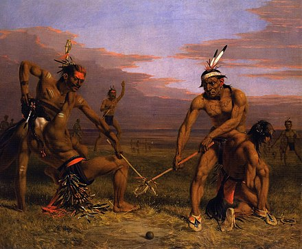 Charles Deas - Sioux playing ball, 1843, oil on canvas Charles Deas - Sioux playing ball.jpg