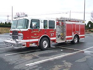 Charlotte Fire Department - Engine 37 is a 2005 Spartan/Smeal Pumper.