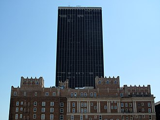 Chase Tower (Oklahoma City) - Image: Chaseskrivinokc