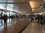 Check-in area of Anchorage Airport South Terminal, Aug 2016.jpg