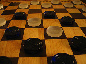 A game of checkers.