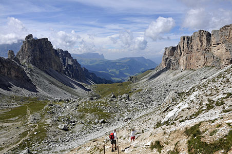 Vale in the Dolomites