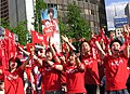 Cheering with red shirts in Korea.jpg