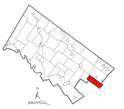 Location of Cheltenham Township in Montgomery County