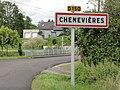 Chenevières (M-et-M) city limit sign.jpg