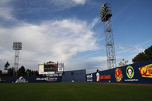 Cheney Stadium - Image: Cheney Stadium outfield