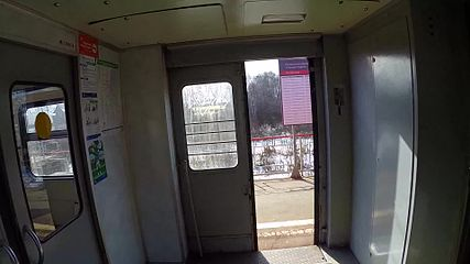 Файл:Chernoye north platform from moving train.webm