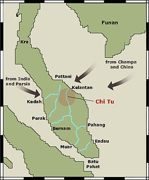 Chi Tu - Location of Chi Tu as indicated in the map of Transpeninsula route-ways.