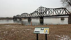 a Bridge across the Missouri River at PIERRE, SD