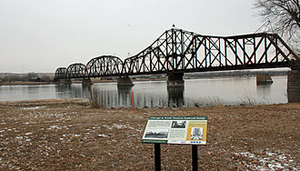 National Register of Historic Places listings in Hughes County, South Dakota - Image: Chicago and North Western Railroad Bridge