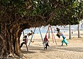 Children playing on the Khor Fakkan Beach.jpg
