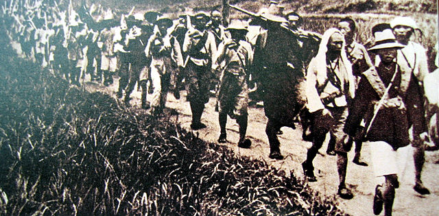soldiers of the Chinese Red Army during the time of their resistance against Chiang Kaishek's first encirclement campaign of the Jiangxi Soviet
