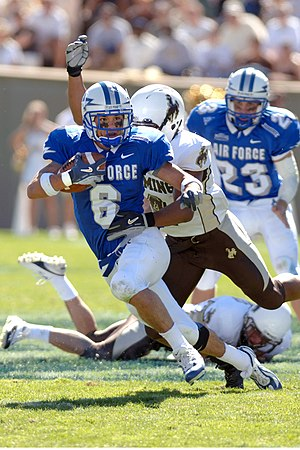 Return specialist - Joel Kurzdorfer of Air Force returning a punt in 2003.