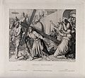 Christ carries his cross to Golgotha. Etching by H. Kipp aft Wellcome V0034562.jpg