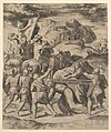 Christ carrying the cross surrounded by soliders, several on horseback MET DP824413.jpg