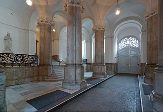 Christiansborg Palace - The Queen's Gate is the principal entrance to The Royal Reception Rooms